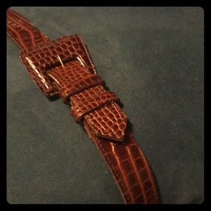 Accessories - FAUX LEATHER ALLIGATOR BELT